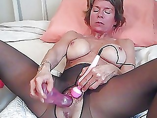 Latex MILF Muff Nylon Orgasm