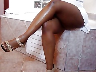 Black Ebony Fetish Foot Fetish MILF Skirt Upskirt Wife