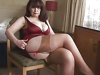 Big Tits Lingerie Mature Panties Playing Striptease Tease