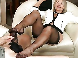 Black Fetish Foot Fetish Footjob Masturbation Mature Nylon Panties