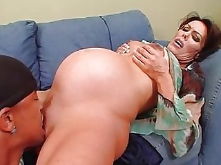 Anal Blowjob Brunette Chick Couple Interracial MILF Pregnant