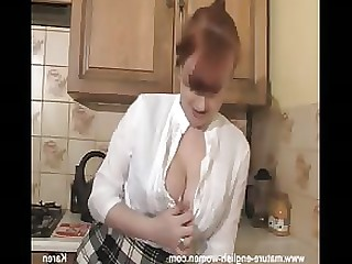 Amateur Brunette Kitchen MILF Redhead Skirt Striptease Tease
