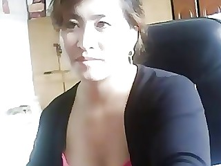 Chinese Close Up Masturbation Mature MILF Playing Webcam