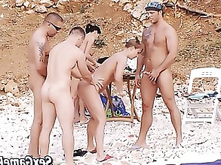 Blowjob Brunette Group Sex Hardcore MILF Orgy Outdoor Pleasure