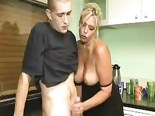 Blonde Cumshot Handjob MILF Punished