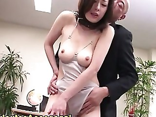 Ass Fingering Japanese MILF Nipples Office