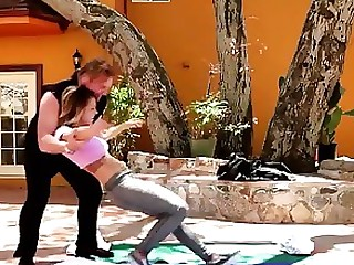 Blonde Daughter MILF Outdoor Teen Train