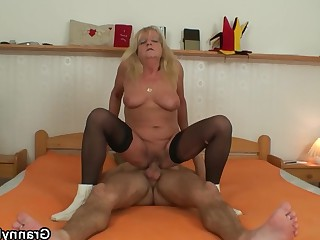Blonde Granny Mature Old and Young Teen