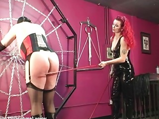 Fetish Hot Latex Mammy MILF Redhead Spanking Toys