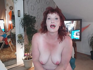 Erotic Fetish Mammy Masturbation Mature MILF Redhead Smoking