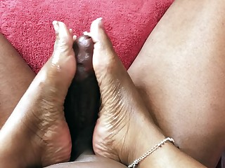 Black Big Cock Ebony Feet Fetish Foot Fetish Footjob Huge Cock