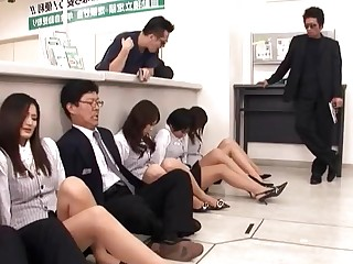 Cash Hardcore Japanese Mature MILF Nylon Office Panties