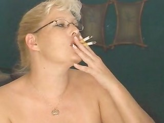 Big Tits Boobs Bus Busty MILF Smoking