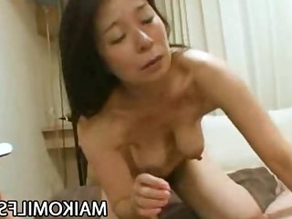 Blowjob Big Cock Creampie Hairy Horny Japanese Mature MILF