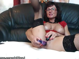 Bus Busty Dildo Masturbation Mature Solo Toys Webcam