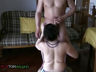 Amateur Anal Blowjob Brunette HD Hot Mammy Mature