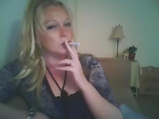 Blonde Cougar Mature Smoking